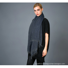 Echarpe en cachemire Alashan Worsted, texture douce / luxueuse