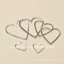 Aluminium Rahmen Herz Form Etikettenhalter