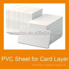 Feuille de PVC pour la couche intermédiaire de carte de crédit