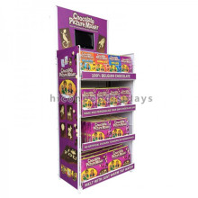 Free Design Metal Retail Store Fixtures And Display Small Lcd Promotional Kids Chocolate Stand