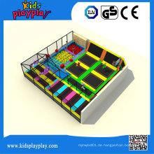 Kidsplayplay Kids Play Center Indoor Großhandel Trampolin Bett für Erwachsene