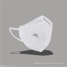 Masques faciaux à pliage horizontal Pm 2.5 N95 jetables