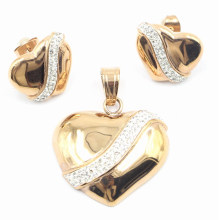 Factory Direct Hot Selling Fashion Stainless Steel Jewelry Set - Earring & Pendant