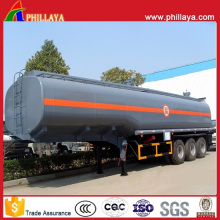 Dreiachsiger Tanker halb Anhänger 45000 Liter Chemikalientank