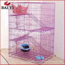 Gaiola de gatos para gatos grande / gato de gato com rodas