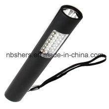 Dual-Function 24+1 LED Work Light Torch Magnetic Backside