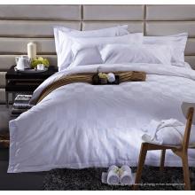 Verificação de cetim 100% algodão conjunto de cama (ws-2016330)