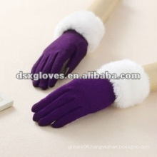 100% Cashmere Purple Lady Glove used on ipad