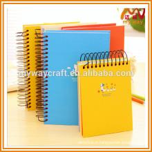 Notebook de alta qualidade notebook / espiral com papel colorido