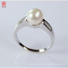 AAA Grade Natural Pearl Ring com Zircon (ER1605)