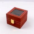 Коробка подарка изготовленного на заказ clamshell с окном ясности замка для смотреть