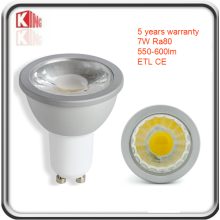 Refletor LED de alto brilho Lumen 7W Dimmable GU10