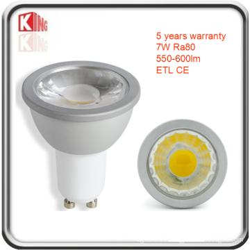 Foco LED ETL High Lumen 7W regulable GU10