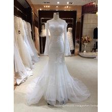off The Shoulder Long Sleeve Mermaid Wedding Dress