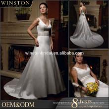 2015 Guangzhou Supplier princess wedding dress with sleeve