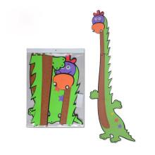 Pegatinas de dibujos animados para niños dibujos animados altura gobernante respetuoso del medio ambiente eva puzzle altura pared calcomanías niño sala de decoración