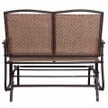Outdoor Steel Loveseat Double Swing Glider Rocking Chair