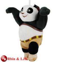 Conozca EN71 y ASTM estándar ICTI juguete de peluche fábrica al por mayor kungfu panda juguete de peluche