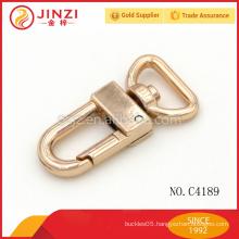 Solid Brass Swivel Eye Bolt Snap Hooks For Handbag