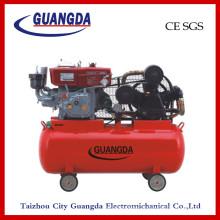 CE SGS 180L 10HP Compresseur d'air diesel à entraînement par courroie (W-0.97 / 12.5)
