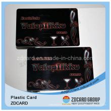 Tarjeta de regalo de PVC con Barode / Tarjetas de regalo de plástico / Tarjeta de membresía de plástico