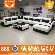 2017 latest modern fashion home furniture design leather sectional sofa made in china