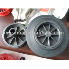 solid rubber wheel with plastic hub 8'