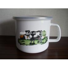 best selling items logo printing enamel mugs