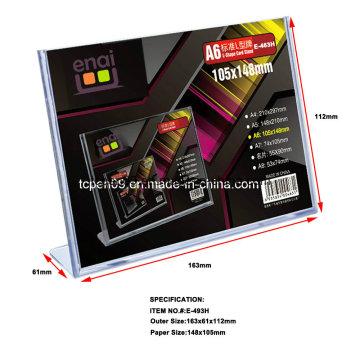 Hochwertige transparente PS Kunststoff-Display-Karte für die Werbung