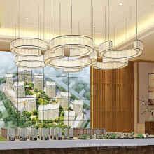 Modern Art Deco Chandelier Pendant Lighting Hand Blown Glass LED Chandelier light