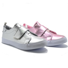 Bright Leather Magic Tape Basic Classical Women Casual School Shoes