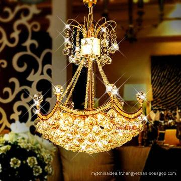 Source lumineuse économiseuse d'énergie de décoration à la maison et lustre en cristal moderne de lustre de k9 de plafond