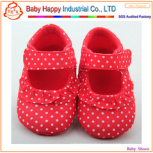 Lovely 0-24 months hottest red spotted baby shoes