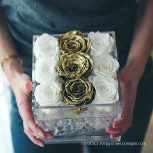 2017 New Style Rose Boxes Acrylic Flower Displays