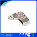 Proveedor de China regalo promocional Crystal Metal USB Pen Drive 4GB 8GB