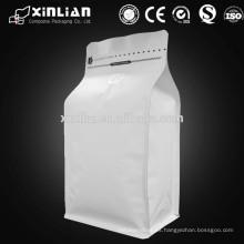 Bolsa de empaquetado del café del papel de aluminio de la parte inferior plana cuadrada
