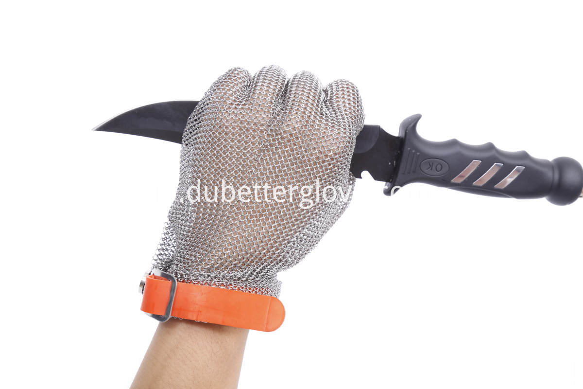 Wrist Length Stainless Steel Gloves