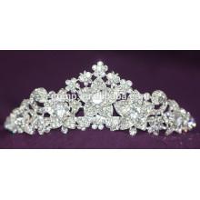 Fashion Custom Shiny Crystal Crown Wedding Tiara For Bridal