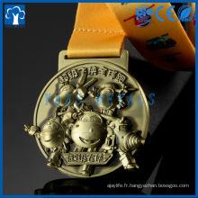 Cheap Fashion Custom Antique or, silver Bronze Logo Metal Award Medal