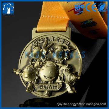 Cheap Fashion Custom Antique gold ,silver Bronze Logo Metal Award Medal