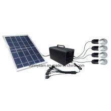 Крытый и открытый портативный мини Солнечной системы с Передвижным Заряжателем