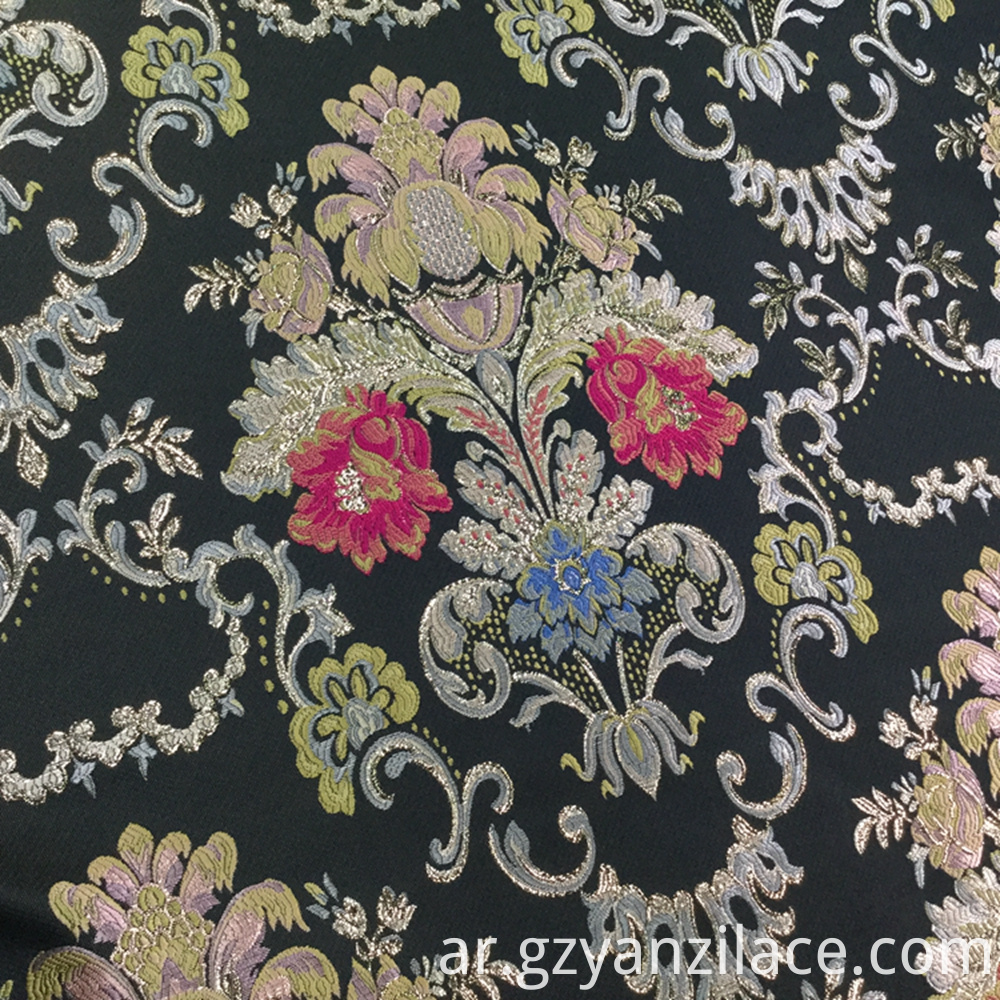 Black Flower Jacquard
