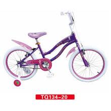 Neumático blanco de niños púrpura Bicicleta de 12 pulgadas