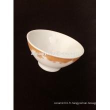 bol en céramique de haute qualité avec décalque