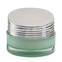 Lujoso obturador forma acrílico frascos para el cuidado de la piel