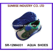 SR-12MA031 El agua antideslizante del niño fresco infantil calza el zapato que camina del agua zapatos del agua de la aguamarina