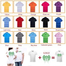 Heißer Verkauf Logo Siebdruck Printed Men Baumwollhemd