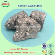 Transporte de liga de cálcio de silício da China