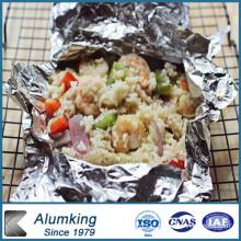 Feuille à rouleaux en aluminium à double zéro pour l'emballage alimentaire (8079)