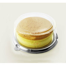 Plástico transparente Caja redonda para tarta de queso (caja de PP)